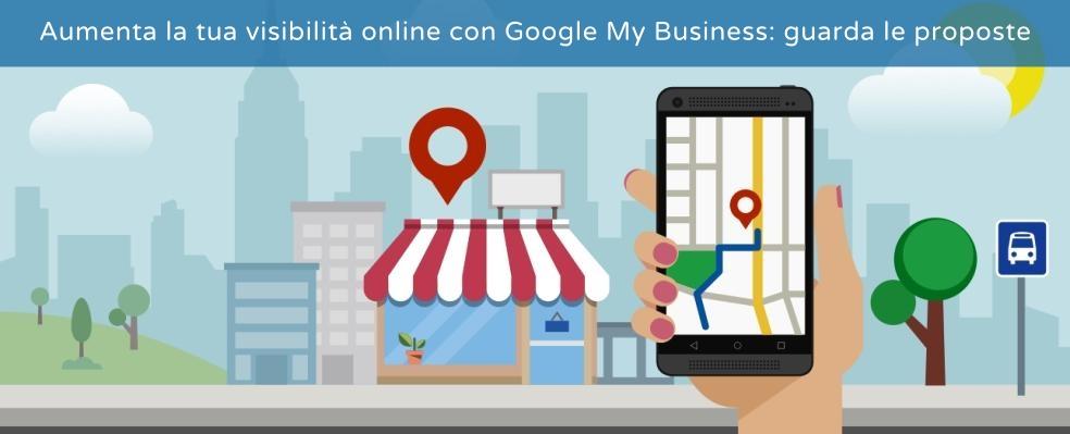 Aumenta la visibilità online con Google My Business e sito web
